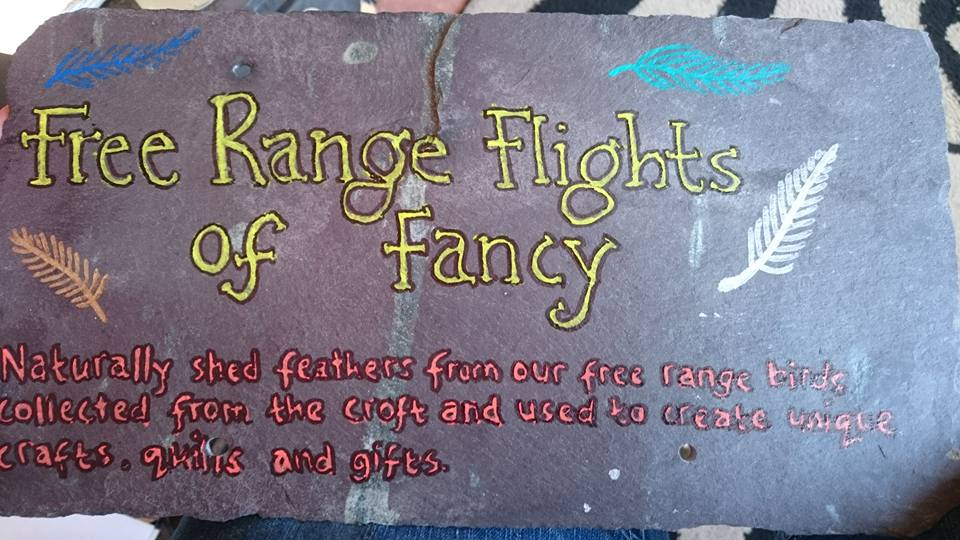 free range flights of fancy sign