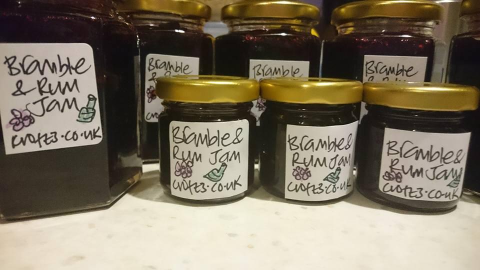 bramble and rum jam