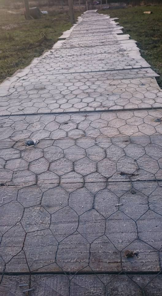 chicken wire path